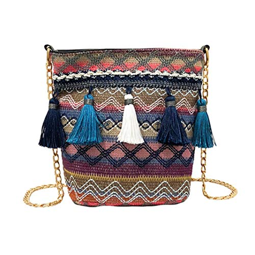 Vintage Canvas Daisy Football (Crossbody Bags for Women,iOPQO Vintage Knitting Tassel Beach Shoulder Bag)