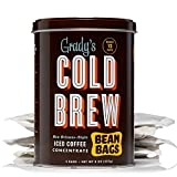 : Grady's Cold Brew Coffee, 1 Storage Can with 4 Bean Bags, Regular