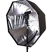 "FOTOCREAT 32""(80cm) Portable Octagon Softbox Umbrella Brolly Reflector for Speedlight Flash"