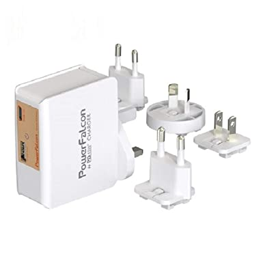 PowerFalcon - Cargador USB Doble de 45 W (Tipo C PD + USB -A ...