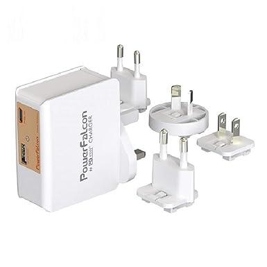 PowerFalcon - Cargador USB Doble de 45 W (Tipo C PD + USB -A ...