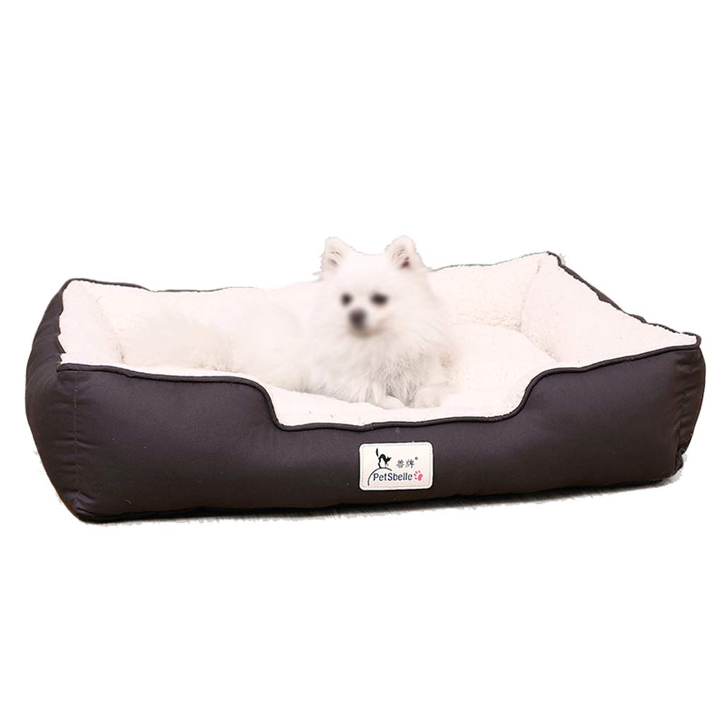 75×55×18cm AIDELAI Pet Mat, Large Dog Kennel Cat House Removable And Washable Pet Nest Wear-resistant Bite Pet Bed (Size   75×55×18cm)