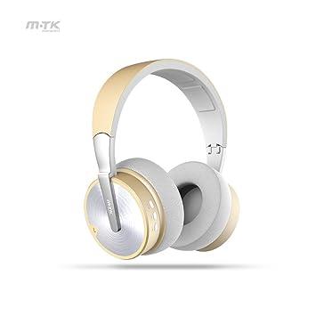 MTK Auriculares Bluetooth inalámbricos con reducción de Ruido ...