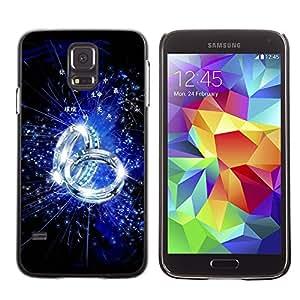 Paccase / SLIM PC / Aliminium Casa Carcasa Funda Case Cover - Blue Ring - Samsung Galaxy S5 SM-G900