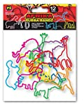 Pk of 12 Rubba Bandz Rubber Bracelets: Afrika Animals
