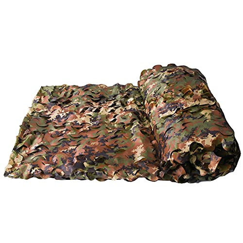 Camouflage Sunshade Net Camo Netting Blinds for Camping Shooting Hunting (1.5x3M=5x10ft, Italy Woodland)