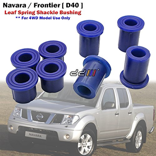 8pcs Poly Rear Spring Shackle Bushing For Nissan Navara D40 4x4 4WD 2005-14