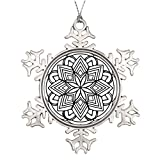 Xixitly Xmas Trees Decorated Mandala 52 star.flower Meditation Metal Christmas Snowflake Ornaments