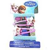 Hair-clip + elastic 'Frozen - Reine Des Neiges'blue pink (4 piece).