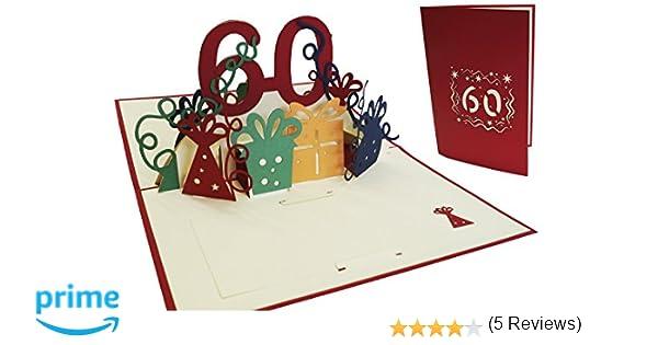 Lin Pop Up de tarjetas de felicitación por 60 beeeeestial Día, tarjetas de cumpleaños tarjetas de felicitación Tarjetas de felicitación Cumpleaños