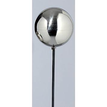 Gartenstab Kugel Rosenkugel silber Metall 120cm