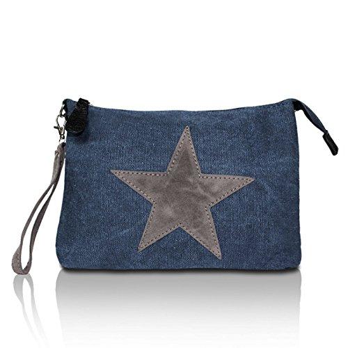 Motif Avec Bleu 2 Sac Étoile De Glamexx24 Transport À Sacs Bandoulière Jeans w0OpO1