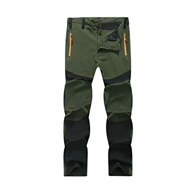 0672e5957e1 Vovotrade Mens Waterproof Outdoor Hiking Climbing Durable Warm Trousers  Tactical Pants (Army Green