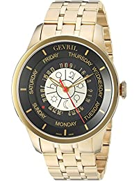 Columbus Circle Mens Swiss Automatic Gold Stainless Steel Bracelet Watch, (Model: 2007B)