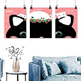 lovely nba wall decals SCOCICI1588 3 Panel Canvas Wall ArtLovely and Simple Wallpaper for Wall Decor Home Decoration No Frame 12 INCH X 16 INCH X 3PCS