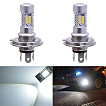 KaTur Super Bright H4 DRL Fog Light Replacement 2835 21SMD Led Car Driving Daytime Running Lights Xenon White 6000K DC 12V 80W 2-Pack