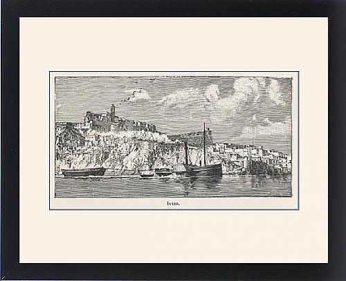 Framed Print Of Spain/balearics/ibiza by Prints Prints Prints