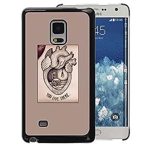 A-type Arte & diseño plástico duro Fundas Cover Cubre Hard Case Cover para Samsung Galaxy Mega 5.8 (Heart Medicine Text Love Valentine)