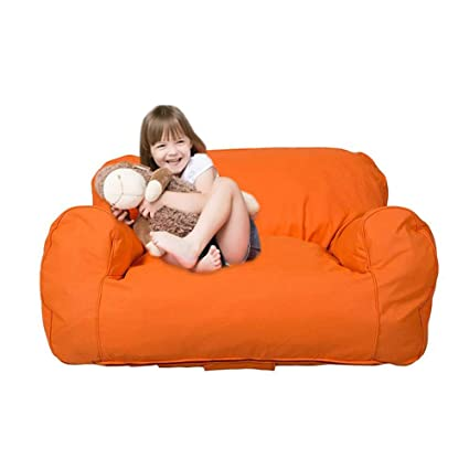 Magnificent Dporticus Mini Lounger Sofa Bean Bag Chair Self Rebound Sponge Double Child Seat 35 4 X 19 7 X 19 7 Orange Inzonedesignstudio Interior Chair Design Inzonedesignstudiocom