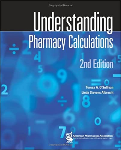 Book Understanding Pharmacy Calculations