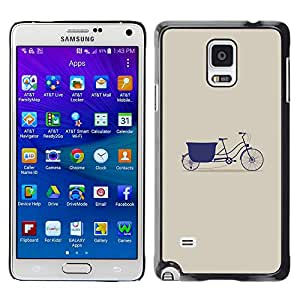 X-ray Impreso colorido protector duro espalda Funda piel de Shell para Samsung Galaxy Note 4 IV / SM-N910F / SM-N910K / SM-N910C / SM-N910W8 / SM-N910U / SM-N910G - Purple Beige Minimalist Art Hipster