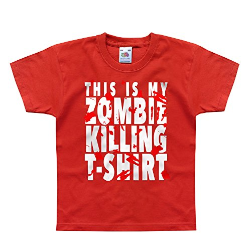 Nutees This Is My Zombie Killing TShirt Halloween Costume Unisex Kids T Shirts - Red 9/11 -