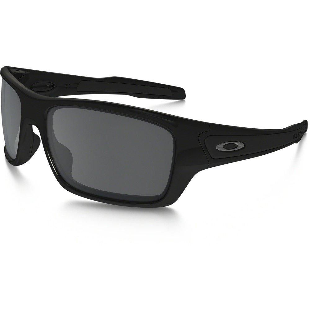 Oakley Men's Turbine OO9263-03 Iridium Rectangular Sunglasses, Polished Black, 65 mm
