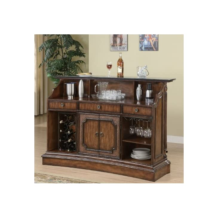 Coaster Home Furnishings Modern Traditional Bar Table