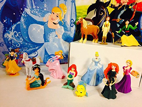 Disney Princess Adventures Cake/Cupcake Toppers Set of 12 Pieces