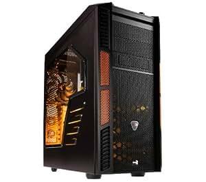 AEROCOOL Caja de PC XPredator X3 Evil Black Edition - negro / naranja + GARANTÍA 3 AÑOS