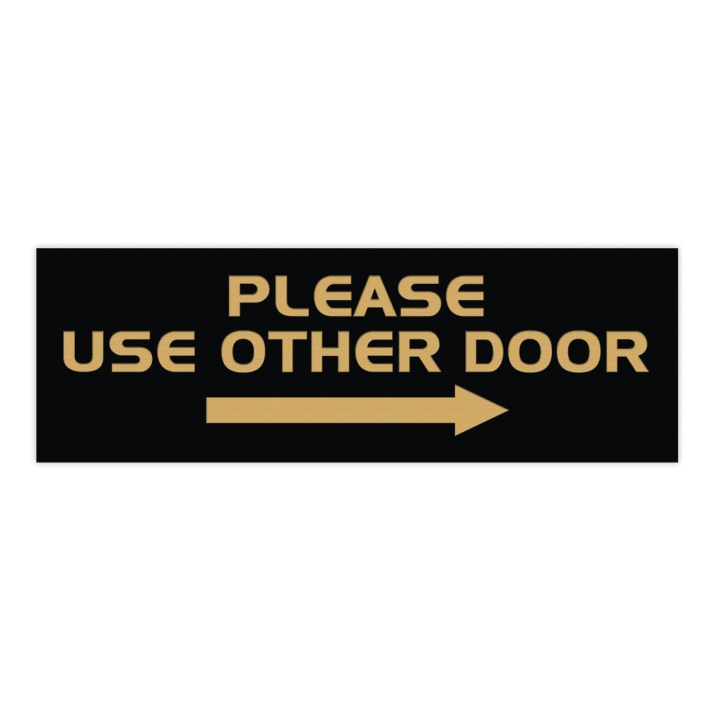 Right Arrow Medium 3 x 8 Brushed Silver All Quality Please USE Other Door Sign -