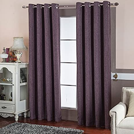 Best Dreamcity Faux Linen Blackout Curtains For Bedroom, Window Treatment,  Room Darkening, Insulated