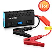Amazon #LightningDeal 95% claimed: Jump Starter, [High Quality]Pictek Car Jump Starter 3-in-1 ( Rechargeable Portable Mobile Power Bank, 500A Output, LED Flashlight) 13600mAh External Battery Charger