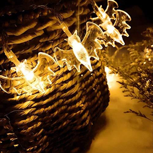 Sonmer LED Bat Lantern String Light, for Halloween Party Ghost Festival (Yellow)