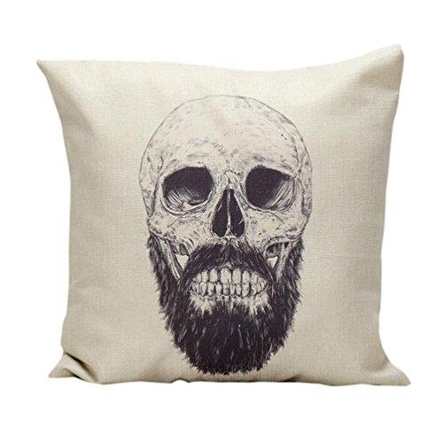 [Charberry Halloween Skull Pillow Case Sofa Waist Throw Cushion Cover Home Decor (E)] (Horror Makeup Value Kit)