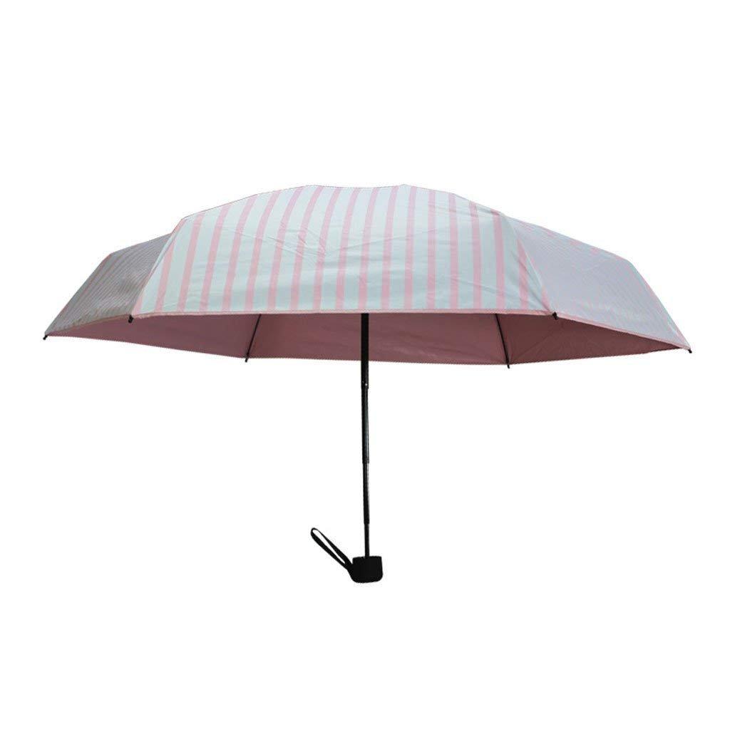 X10 XX Paraguas de Paraguas de luz Paraguas de Sol/Lluvia de Rayas Verticales/Paraguas Doble Paraguas Plegable/Paraguas de Sol,BBB