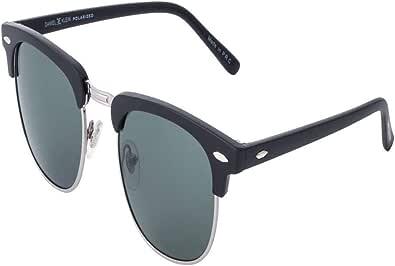 Daniel Klein Polarized Browline/Clubmaster Women's Sunglasses - (DK3129-C1|50|Grey Color Lens)