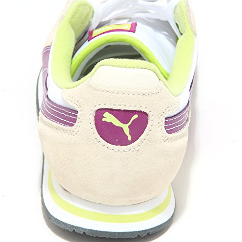 Women Cabana Sneakers 1147m Scarpe Racer beige Shoes Puma Bianco Donna 1qv6xwnH