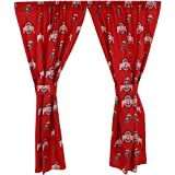 College Covers Ohio State Buckeyes Printed Curtain Panels 42'' x 84''
