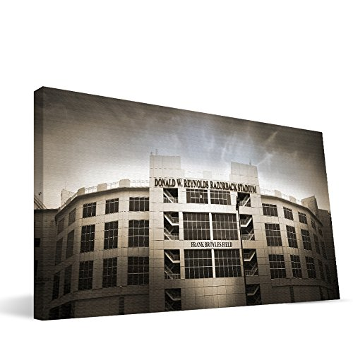 Arkansas Razorbacks 24x48 Donald Reynolds Razorback Stadium Canvas Print (Stadium Razorback)