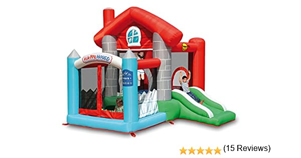 PL Ociotrends - Castillo Hinchable Happy House: Amazon.es ...