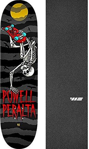 夫社説楽しいPowell Peralta Handplant Skellyチャコール/ブラック/レッドスケートボードデッキ – 8
