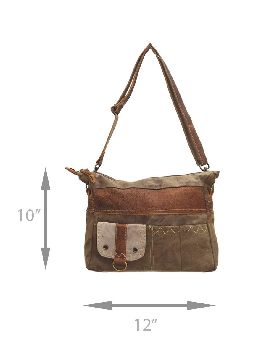 Myra Bags Perfection Upcycled Canvas Shoulder Bag S-0703