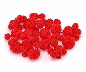 Gtermann/KnorrPrandell 2681047-Pom Poms (Pack of 100, 8-20cm, Red) by Gtermann