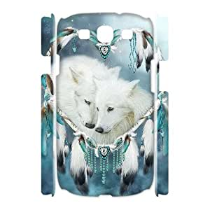 C-EUR Wolf Dream Catcher Customized Hard 3D Case For Samsung Galaxy S3 I9300