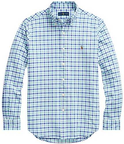 Ralph Big And Tall Lauren - Ralph Lauren Men Solid Sport Oxford Shirt (L, SeafoamBlue)