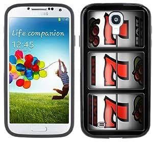 777 Jackpot Slot Machine Casino Handmade Samsung Galaxy S4 Black Bumper Hard Plastic Case