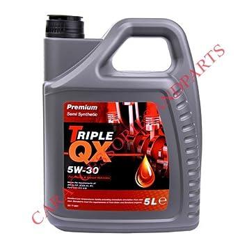 Triple QX 5W30 Semisintético Aceite Motor (5 Litros): Amazon.es: Coche y moto