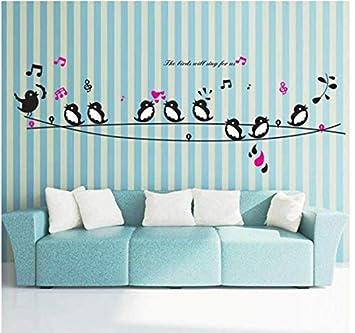 Amazon Com Stickerhappy Birds Song Music Wall Stickers Living Room