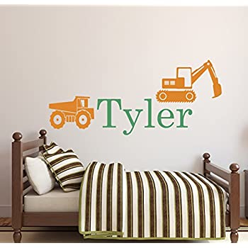 Amazon.com : Personalized Truck Name Wall Decal - Boys ...